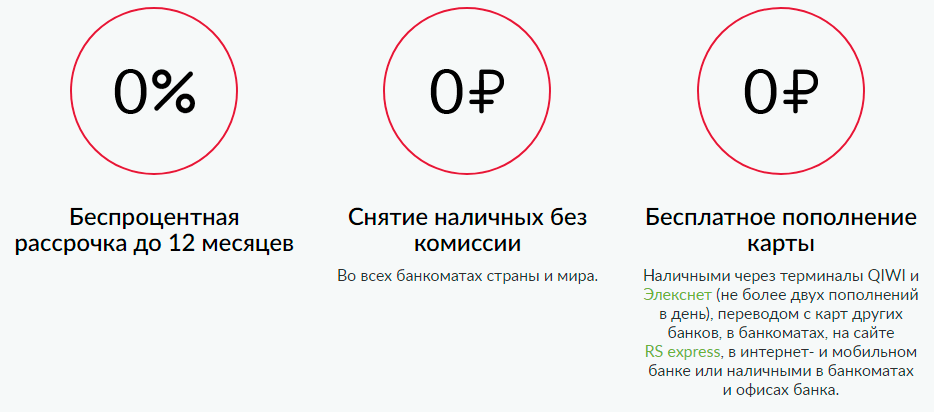 кредитная карта русский стандарт условия